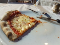 Last pizza slice in Italy...sigh...